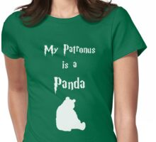 My Patronus is a Panda Womens Fitted T-Shirt