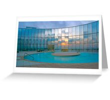 Sunrise at the Pool Greeting Card