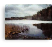 The lake in my little village Canvas Print