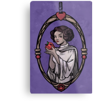 Snow Organa and the Poisoned Death Star Metal Print