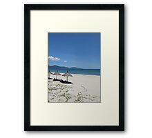 China Beach Framed Print