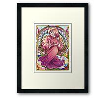 Princess Bubblegum Art Nouveau Framed Print