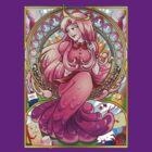 Princess Bubblegum Art Nouveau by Amelie  Belcher