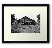 Route 66 - Meramec Caverns Barn Framed Print