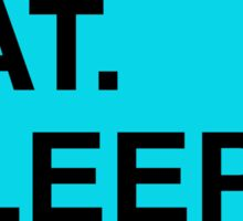 Read. Eat. Sleep. Repeat. (Blue) Sticker