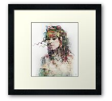 Going out in the words Framed Print