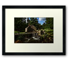 Canal house at Waterloo Village Framed Print