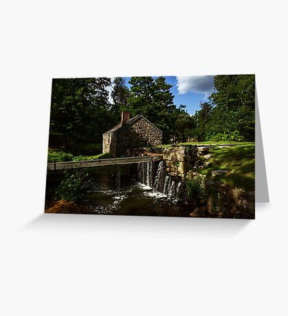 Canal house at Waterloo Village Greeting Card