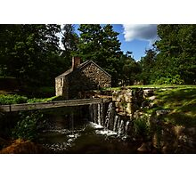 Canal house at Waterloo Village Photographic Print