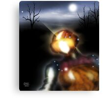Metallic Robot at Dusk Canvas Print