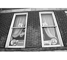 Route 66 - Windows and Drapes Photographic Print