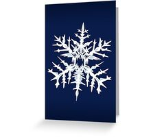 Evil Snow Greeting Card