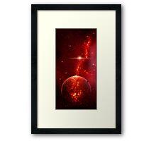 Fiery Planet Framed Print