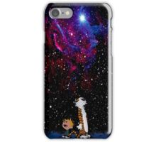 Calvin and hobbes Go to christmas iPhone Case/Skin