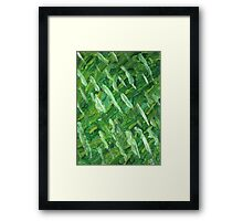 GREEN STRING BEANS Framed Print