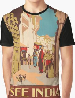 Vintage poster - India Graphic T-Shirt
