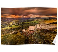 Sunset at Hathersage Poster
