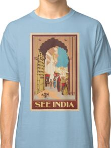 Vintage poster - India Classic T-Shirt