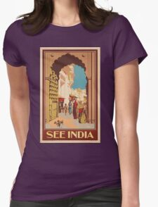 Vintage poster - India Womens Fitted T-Shirt