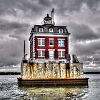 New London Ledge Lighthouse (Color) by Timothy Borkowski