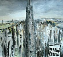 Empire State Building New York Cityscape - Wall Art  by JamesPeart