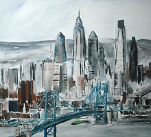 Philadelphia Cityscape - Wall Art by JamesPeart