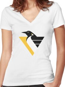 Pittsburgh Penguins Women's Fitted V-Neck T-Shirt