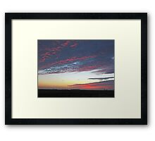 Cotton Candy Clouds Framed Print