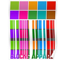 Colour Blocks Apparel Barcode Poster