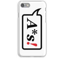 A*s! iPhone Case/Skin