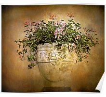 Fresco Floral Poster