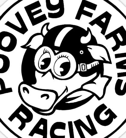 Poovey Farms Racing Sticker