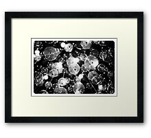 Glass, Wire, Light Framed Print