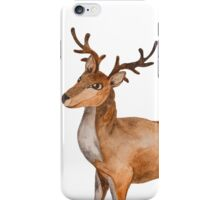 Watercolor Reindeer iPhone Case/Skin