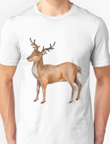 Watercolor Reindeer T-Shirt