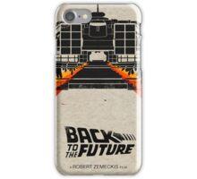 Back To The Future minimalist iPhone Case/Skin