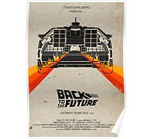 Back To The Future minimalist Poster