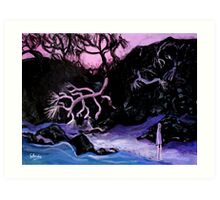 beach on dusk Art Print