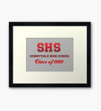 Sunnydale High School Framed Print