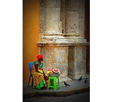 Caribbean lady of Cartagena  Photographic Print