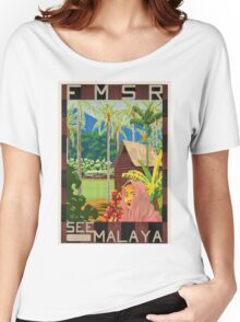 Vintage poster - Malaya Women's Relaxed Fit T-Shirt