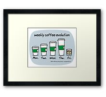 weekly coffee evolution Framed Print