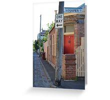 South Melbourne Streetscape Greeting Card