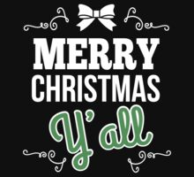 Merry Christmas Y'all Ugly Sweater New - T shirts & Accessories by amazingarts