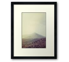 Mountains in the background III Framed Print