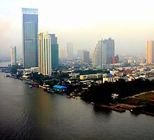 Bangkok in Early Morning Light by Laurel Talabere