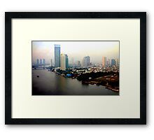 Bangkok in Early Morning Light Framed Print