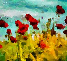 The Poppy Field by DiNovici