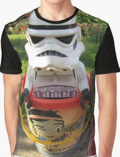 Dave Stormtrooper's Ready For The Beach Graphic T-Shirt