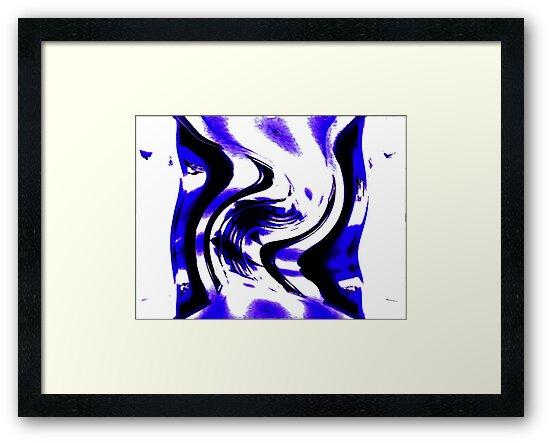 Blue Abstracted ! by Elfriede Fulda
